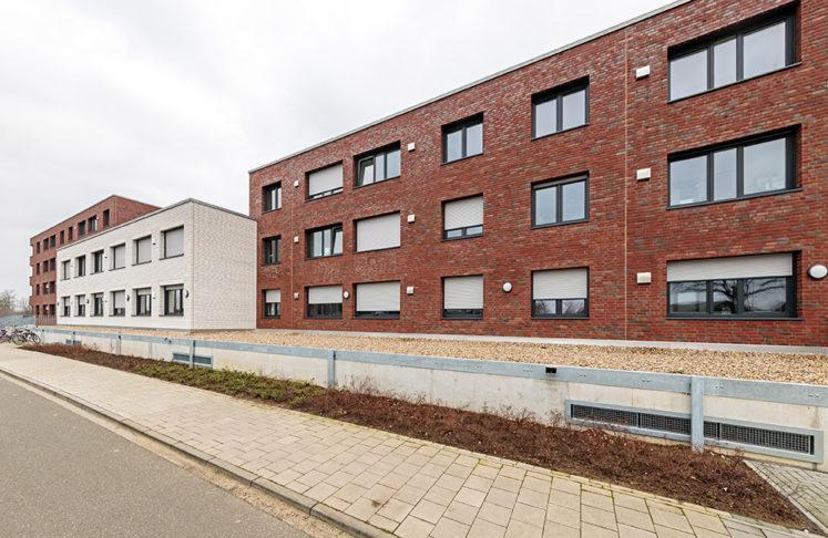 Schrameyer GmbH und Co. KG Ibbenbueren Anwendungsbeispiel: Neubau Wohnhaus am Klukkerthafen in Nordhorn Foto: Hans-Rudolf Schulz