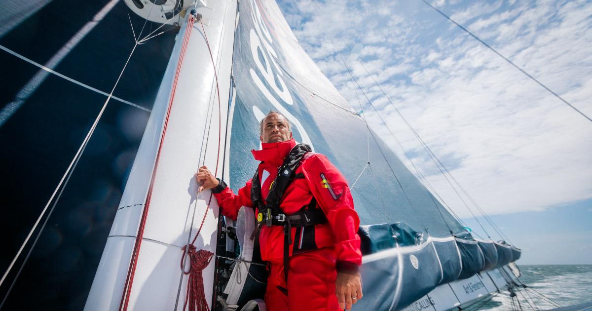 Hager Group offizieller Sponsor des Vendée Globe Skippers Fabrice Amedeo